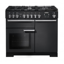 Rangemaster Professional Deluxe 100 Dual Fuel Charcoal Black Range Cooker PDL100DFFCB/C 126090