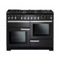 Rangemaster Professional Deluxe 110 Dual Fuel Charcoal Black Range Cooker PDL110DFFCB/C 126110