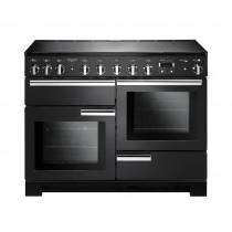 Rangemaster Professional Deluxe 110 Induction Charcoal Black Range Cooker PDL110EICB/C 126130