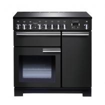 Rangemaster Professional Deluxe 90 Induction Charcoal Black Range Cooker PDL90EICB/C 125950