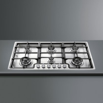 Smeg Classic 90 Stainless Steel Gas Hob