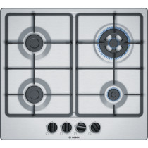 Bosch Serie 4 PGH6B5B60 Stainless Steel Gas Hob