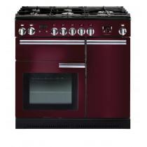 Rangemaster Professional Plus 90 Dual Fuel Cranberry Range Cooker PROP90DFFCY/C 91640
