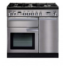 Rangemaster Professional Plus 90 Dual Fuel Stainless Steel Range Cooker PROP90DFFSS/C 84340