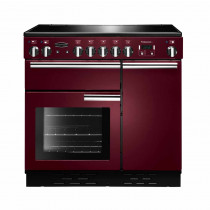 Rangemaster Professional Plus 90 Induction Cranberry Range Cooker 91740