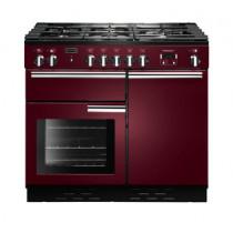 Rangemaster Professional Plus 100 Natural Gas Cranberry Range Cooker