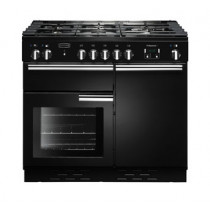 Rangemaster Professional Plus 100 Natural Gas Black Range Cooker PROP100NGFGB/C 111780