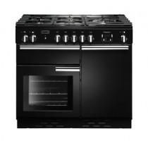 Rangemaster Professional Plus 100 Natural Gas Black Range Cooker