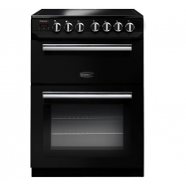 Rangemaster Professional Plus 60 Ceramic Range Cooker Black/Chrome Trim
