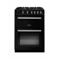 Rangemaster Professional Plus 60 Gas Range Cooker Black/Chrome Trim