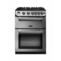 Rangemaster Professional Plus 60 Gas Range Cooker Stainless Steel/Chrome Trim PROP60NGFSS/C 107280