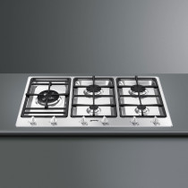 Smeg PS906-4 Classic 90 Stainless Steel Gas Hob
