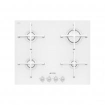 Smeg Linea Glass Ultra Low Profile 60 White Gas Hob