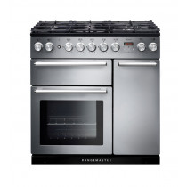 Rangemaster Nexus 90 Dual Fuel Stainless Steel Range Cooker 106130