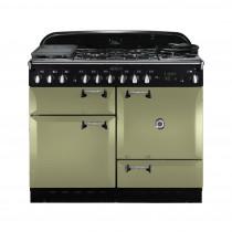 Rangemaster Elan 110 Dual Fuel Olive Green Range Cooker 100990
