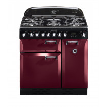Rangemaster Elan 90 Dual Fuel Cranberry Range Cooker ELAS90DFFCY/ 101160