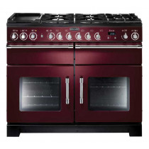 Rangemaster Excel 110 Dual Fuel Cranberry Range Cooker 10556