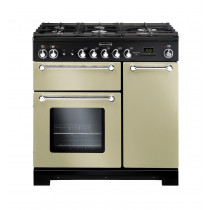 Rangemaster Kitchener 90 Dual Fuel Cream Range Cooker KCH90DFFCR/C 81440