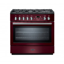 Rangemaster Professional Plus 90 FX Dual Fuel Cranberry Range Cooker PROP90FXDFFCY/C 91140