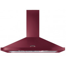 Rangemaster 90cm Chimney Cooker Hood Cranberry with Chrome Trim LEIHDC90CY/ 95590