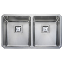 Rangemaster Atlantic Quad Double Bowl Undermount Sink - QUB3434/