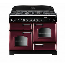 Rangemaster Classic 110 Dual Fuel Cranberry Range Cooker CLA110DFFCY/C 116800