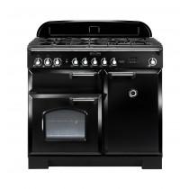 Rangemaster Classic Deluxe 100 Dual Fuel Black Range Cooker 92490