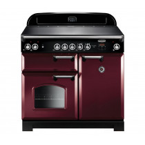 Rangemaster Classic 100 Induction Cranberry/Chrome Trim Range Cooker