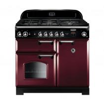 Rangemaster Classic 100 Natural Gas Cranberry/Chrome Trim Range Cooker