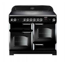 Rangemaster Classic 110 Ceramic Black/Chrome Trim Range Cooker