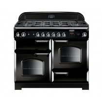 Rangemaster Classic 110 Natural Gas Black/Chrome Trim Range Cooker