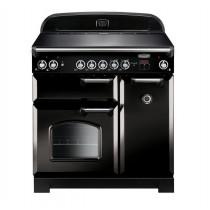 Rangemaster Classic 90 Ceramic Black/Chrome Range Cooker CLA90ECBL/C 117420