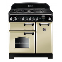 Rangemaster Classic 90 Dual Fuel Cream/Chrome Trim Range Cooker