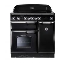 Rangemaster Classic 90 Induction Black/Chrome Range Cooker 87640