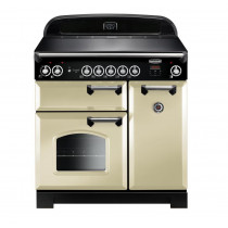 Rangemaster Classic 90 Induction Cream/Chrome Trim Range Cooker