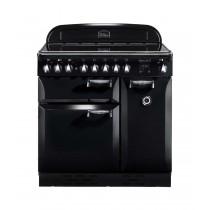 Rangemaster Elan 90 Ceramic Black Range Cooker 75200