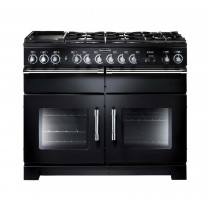 Rangemaster Excel 110 Dual Fuel Black Range Cooker EXL110DFFBL/C 80520