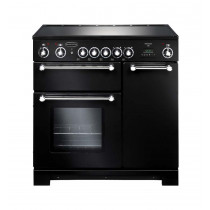 Rangemaster Kitchener 90 Ceramic Black Range Cooker KCH90ECBL/C 79270