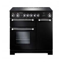 Rangemaster Kitchener 90 Ceramic Black Range Cooker 79270