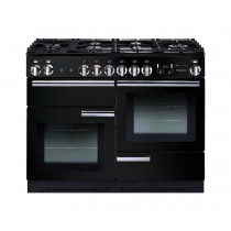 Rangemaster Professional Plus 110 Dual Fuel Black Range Cooker 91680