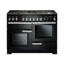 Rangemaster Professional Deluxe 110 Dual Fuel Black Range Cooker PDL110DFFGB/C 97520
