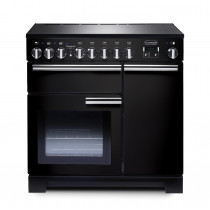 Rangemaster Professional Deluxe 90 Induction Black Range Cooker 97870
