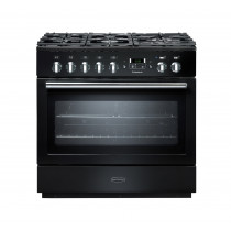 Rangemaster Professional Plus 90 FX Dual Fuel Black Range Cooker 91130