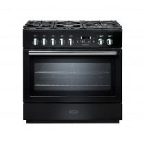Rangemaster Professional Plus 90 FX Dual Fuel Black Range Cooker 91130