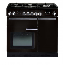 Rangemaster Professional Plus 90 Dual Fuel Black Range Cooker 91630
