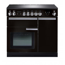 Rangemaster Professional Plus 90 Induction Black Range Cooker 91730