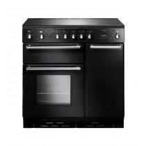 Rangemaster Toledo 90 Ceramic Black Range Cooker 64320