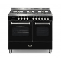 Britannia Fleet 100 Twin - 6 Dual Fuel Burners Black Range Cooker