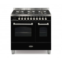 Britannia Fleet 90 Twin - 6 Dual Fuel Burners Black Range Cooker