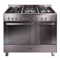 CDA Range Cooker - 90 Twin Cavity - Gas Oven with Gas Hob RC9322SS